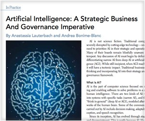 Artificial Intelligence: A Strategic Business & Governance Imperative - NACD
