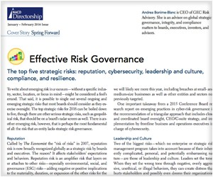 Effective Risk Governance - NACD